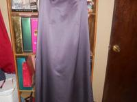 I have a Victorian Lilac Satin Dress for Sale from