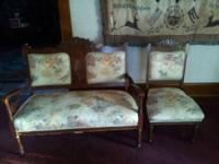 I have a Victorian Parlor love seat and chair that are