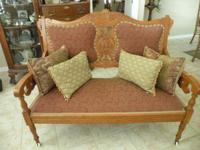 1 Love seat,. 1 Gentleman's Arm Chair. 2 Ladies