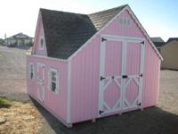 This 8 x 10 Princess Pink Victorian Playhouse is