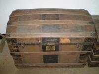 "I have 2 antique Trunks . One is 34 1/2"" Wide , 20 1/2"""