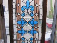 Lovely discolored glass window drawned from a Victorian