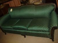 Very nice green victorian sofa for only $55.00come by
