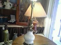 Matching set of victorian style lamps. Heavy cast brass