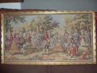 Victorian Antique Tapestry. Professionally framed at