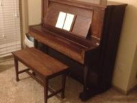 Kranich and Bach Victorian Upright piano dating to the