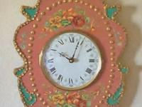 Victorian Wall Clock. Decorative Wall Dcor. Hand made,