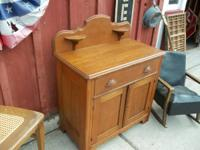 Super nice refinished walnut wash stand... great back