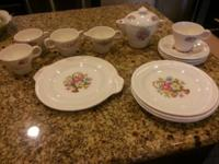 Victory by Salem Ohio china tea set with platter, 4