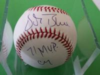 Vida Blue Athletics BASEBALL autograph w/ 71 MVP CY on
