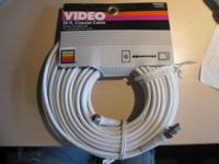 Gemini 50 foot (white) coaxial cable -- $5 GE 100 foot