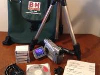 Video Camera (MiniDV) with Tripod and other Extras