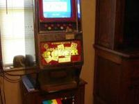 2 pieces- Great video draw poker machine= takes
