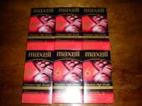 Here is 6 brand new maxell blank tapes still sealed