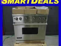 VIKING STAINLESS RANGE, ALL GAS. 4 SEALED BURNERS WITH