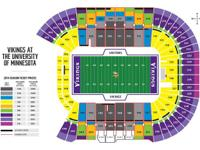 4 tickets for Vikings vs. Oakland Raiders on Friday,