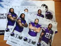 I have two tickets for some Vikings games:  Aug 16th vs