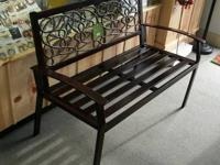 North Crest - Cast Back Vine Bench Sturdy metal