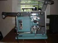 Vintage 16 and 8 mm film projectors and 8mm film