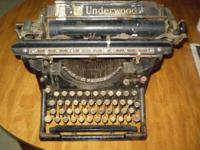 Got a Vintage 1900-1920s Underwood Typewriter up for