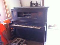 THIS VINTAGE SCHAEFFER PLAYER PIANO IS A PERFECT