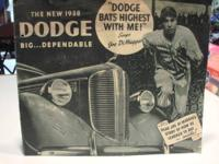 THIS BROCHURE IS FOR THE NEW 1938 DODGE AUTOMOBILE