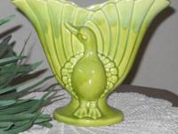 Beautiful vintage ceramic peacock gladiolus vase stands