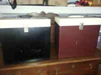 "Vintage 1950's 12"" (78's 45's ) LP Record Carrying Case"