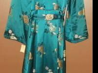Exquisite Japanese Teal Robe, If you love vintage