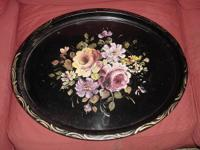 Lovely colorful vintage serving tray from the 1950's.