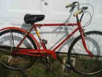 I am selling my 1950's men's Schwinn Racer. Overall