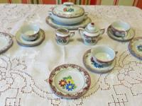 Vintage 1950s Children's Porcelain Tea Set Casserole