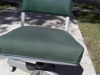 Vintage 1958 SteelCase Desk Chair. Color: GREEN. Date