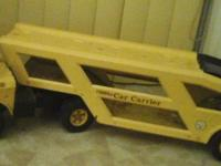 Vintage Tonka Car Carrier Truck Auto Transport Yellow