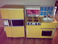 VINTAGE TOY KITCHEN COLLECTION, MADE OF WOOD ...