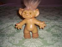 SELLING VINTAGE 1960'S TROLL DOLL, 7 1/2 INCHES TALL,