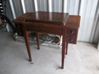 NICE OLD CABINET SINGER SEWING MACHINE. CABINET IS ALL