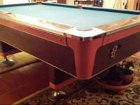 Classic 1964 Fischer Pool Table. Coin Opperated Bar