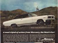 VINTAGE 1967 MERCURY COUGAR ADVERTISEMENT, published in