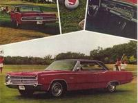 VINTAGE 1967 PLYMOUTH BELVEDERE ADVERTISEMENT and it