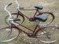 1970s HIS AND HER FREE SPIRIT BIKES 10 SPEEDS 27 IN