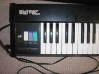 up for sale vintage UNIVOX 61 key compac-piano made in
