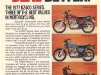VINTAGE 1976 KAWASAKI MOTORCYCLE ADVERTISEMENT for the