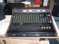Up for sale is a really nice old mixing console that