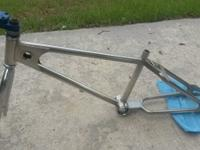 This is a 1980 nickel plated chrome moly bmx frame.