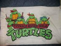 Vintage 1990 Teenage Mutant Ninja Turtles Pillow Case -