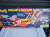 classic hot wheels racing set mongoose and snake. came