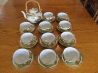 Vintage 24 piece Japanese Moriage Dragon Ware Tea Set