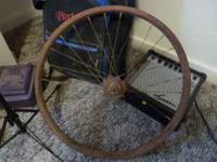 "Skiptooth 24"" wheel. Wheel is a little rusty but the"