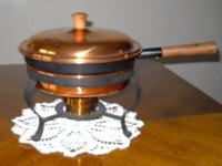 This 3-qt copper chafing dish was purchased new in